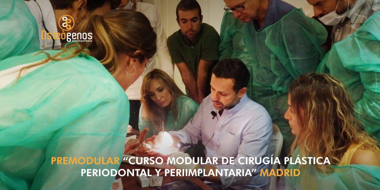Premodular del Curso de cirugía plástica periodontal y periimplantaria