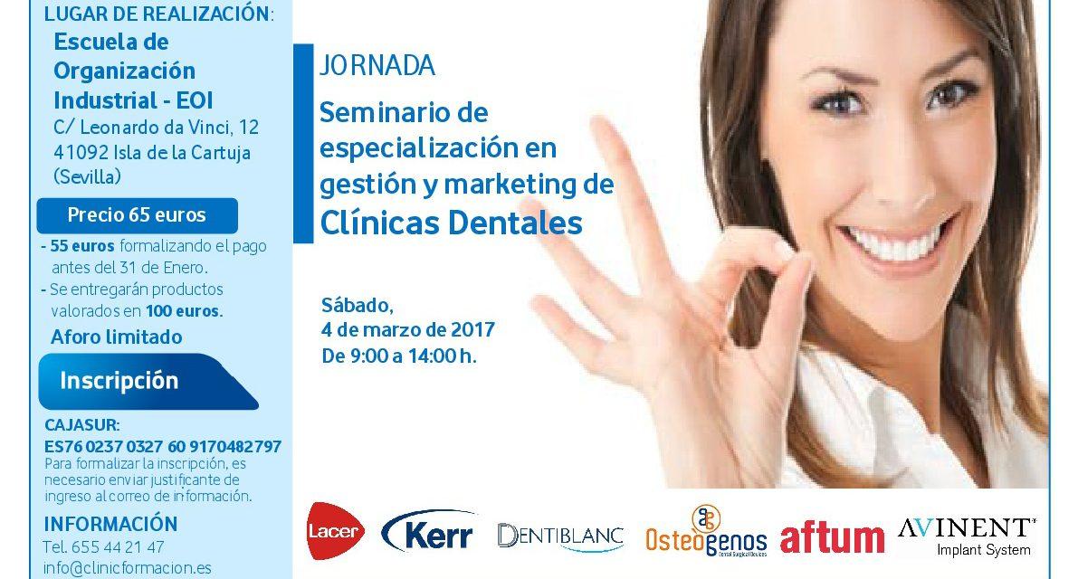 Seminario de especialización en gestión y marketing de clínicas dentales