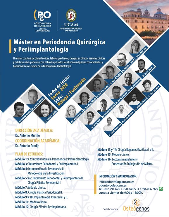 Máster en Periodoncia Quirúrgica y Perrimplantología UCAM